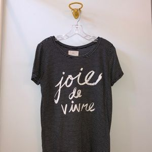 Sol Angeles striped graphic tee